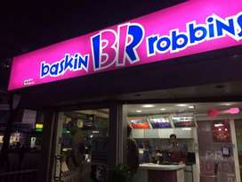 Urgently required boys for night shift only for Baskin Robbins.