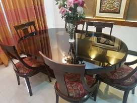 NM Dining Table 6 Chair Set