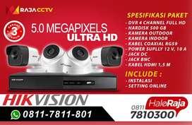 Pasang CCTV Hikvision 5Mp Siap Pasang