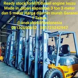 Langsung importir forklift diesel engine Isuzu Made Japan 3 ton 3meter