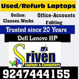 Used /Refurbished Laptops for Online Claases-Works:Sriven Laptops