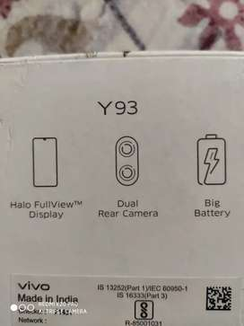 Vivo y93 in new condition.9mnths old only.