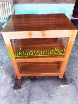 meja tingkat kayu jati