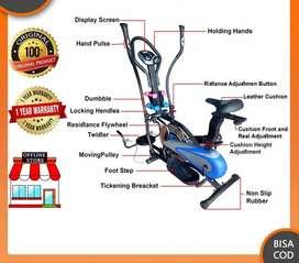 Sepeda statis 6 fungsi fitur lengkap alat fitness Gym murah