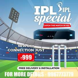 Best Price SALE on New Tata Sky Airtel DishTV HD Connection