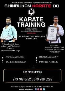 Karate training (ONLINE AND OFFLINE )