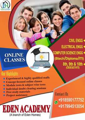 Online & offline tuition for Btech, high school & project assistance