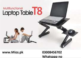 Aluminum Laptop Table T8 Stand, Wooden table & E table for laptop