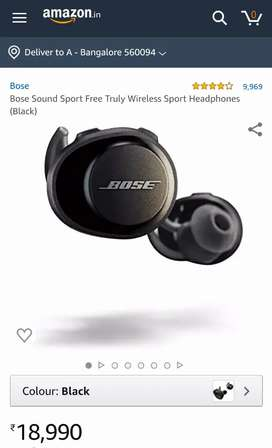 Bose Sound Sport Free Truly Wireless Sport Headphones (Black)