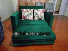 PROMO Sofa Bed 2 Seater Bantal besar