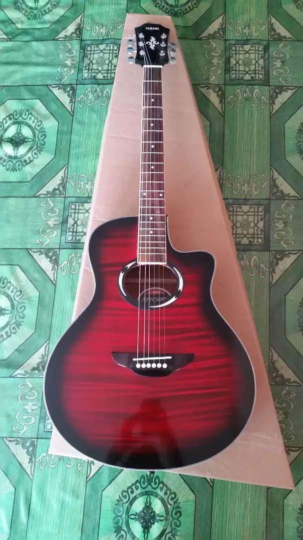 Gitar akustik yamaha apx red black 0