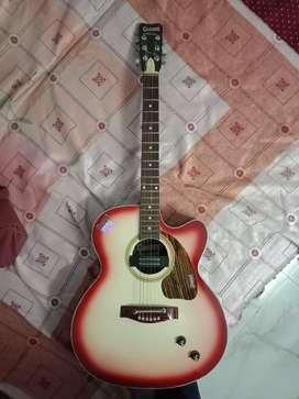 Sunburst colour guitar