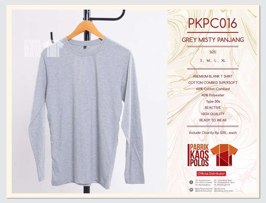 Produsen Kaos Polos cotton combed dg warna TERBANYAK & READY STOCK..! 0