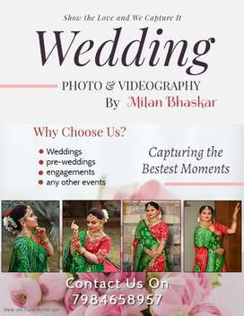 Photography & Videography in wedding, prewedding, engagements & others