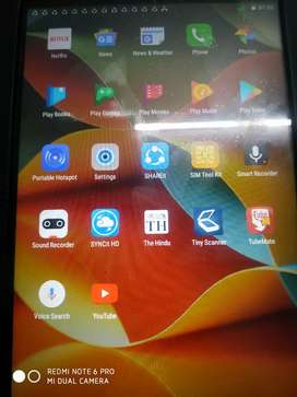 Lenovo yoga tablet with flipcover and tempered glass.