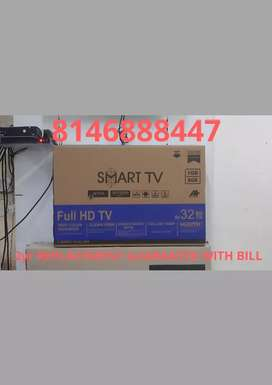 "32""ANDROID smart LED TV with bill 2yr REPLACEMENT guarantee"