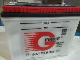 Aki g force ns 60 untuk upgrade toyota avanza,veloz 45 ah