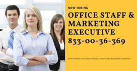 Office staff wanted in trivandrum