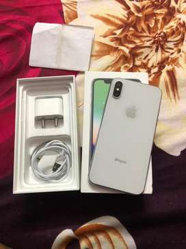 Iphone X 64gb silver with full kit , but face id is not working
