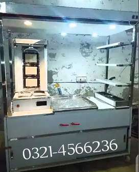 Shawarma counter stainless steel