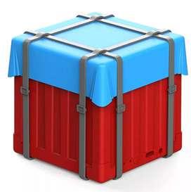 Proda Speaker Bluetooth Portable Design Air Drop PUBG - Red&Blue