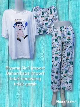 Piyama 3in1 import premium Real pict