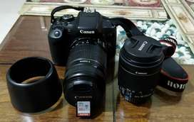 Canon EOS 750D 24.2MP DSLR Camera + 55x250 & 18x55 Lens + 32gb MC +Bag