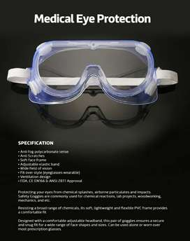 Kacamata safety goggle face shield apd
