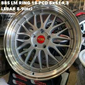 Velg 18 BBS LM SPORT 5Hole 8-9inci Brv Civic Xpander Innova Rush Dll
