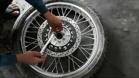 Royal enfield original tires with rim