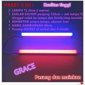 PAKET 2 LAMPU TL TINGGAL PAKAI T5 LED NEON 18 Watt