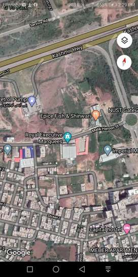 H13 Islamabad commercial plot sale Main PSO petrol pump back