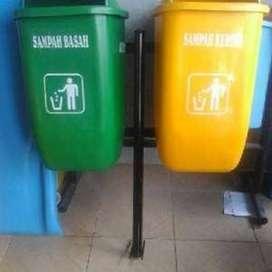 tempat sampah 2 pila fiberglass
