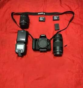 Kamera Canon EOS 750D + Lensa KIT EF-S 18-55 IS STM