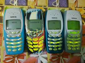Nokia 3410 and Nokia 3310 fancy stylish old models each 2500rs