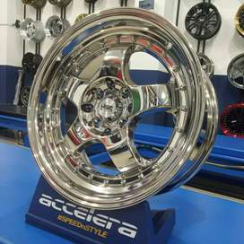 velg murah import hsr wheel ring 16 hole 4x100 4x114,3 chrome