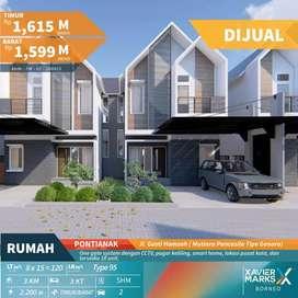 Rumah mewah Baru di Pancasila pusat kota pontianak konsep Smart Home