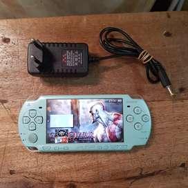 PSP SLIM 2006 WARNA BIRU TELUR ASIN MEMORI 16GB FULL GAME PILIHAN
