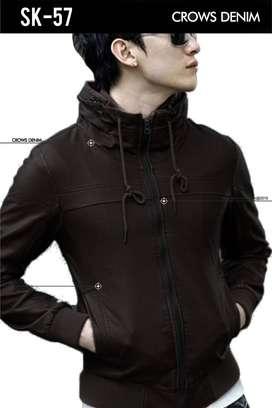Jaket Kulit Korean Black And Brown Color SK-57