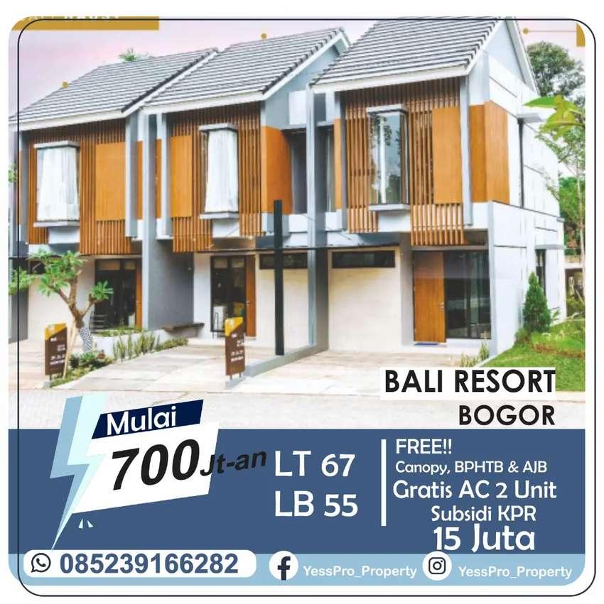 Rumah Mewah Di Bogor 700Jutaan Subsidi KPR 15Jt, Gratis 2 AC