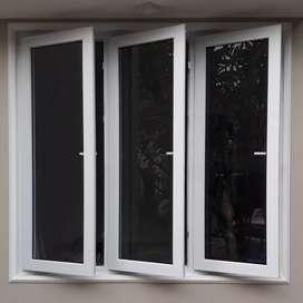 kusen jendela dan pintu upvc bergaransi 10thn