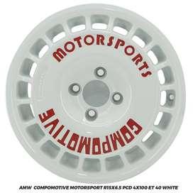 Jual Velg Jazz Brio Yaris Calya AMW Compomotive R15x6.5 4x100 ET 40