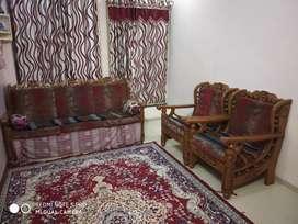 Traditional 100%Pure Sagwan sofa set