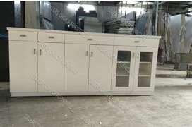 White Crockery unit Or Multi purpose Cabinet