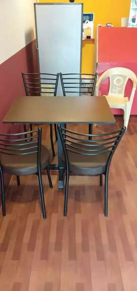 Cafe chair and table set