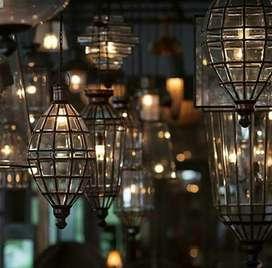Lampu Gantung Kuningan Antik Klasik Hias Cafe