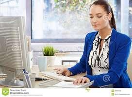 Fresher Female Candidate ke liye hamare pas Office ka Work Available H