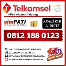Nomor cantik exclusive 0123 Telkomsel simPATI 11 Digit limited edition