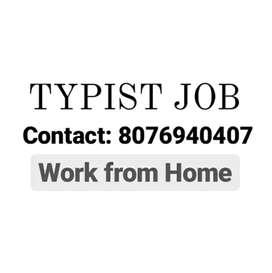 Typist Job Work from Home