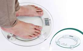 Personal Weight Machine 8mm Round Glass Weighing Scale